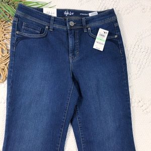 Style & Co. Women's Blue Straight Leg Fit Jeans